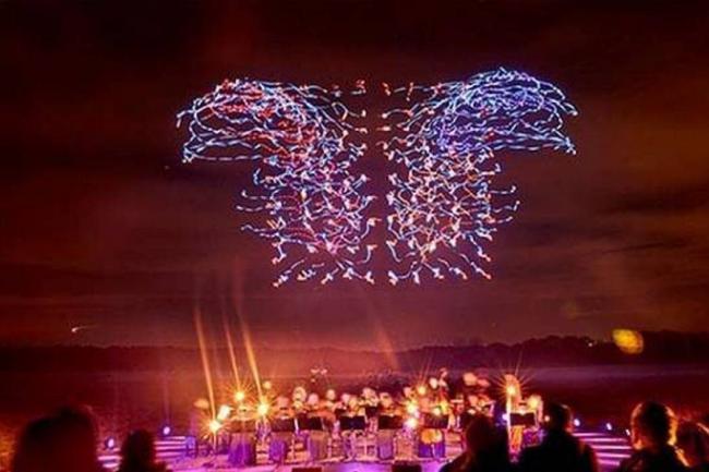 Imperdible Espectáculo de luces con 100 drones