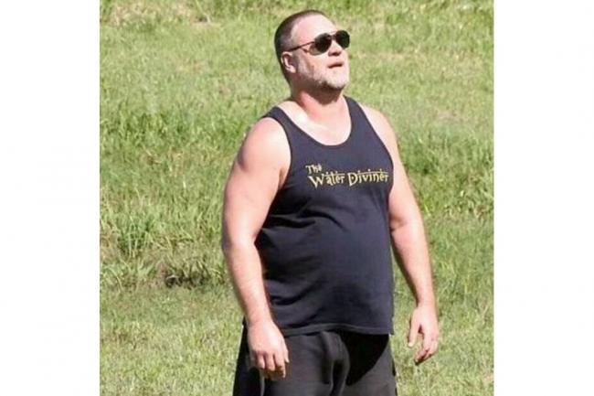 Russell Crowe, irreconocible por su sobrepeso