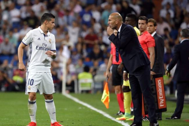 James Rodríguez estalló contra Zinedine Zidane en triunfo ante Leganés — Real Madrid