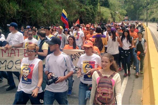 Marcha por libertad de 'presos políticos'