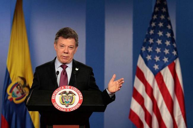EEUU es socio clave de Colombia para la paz, dice Santos