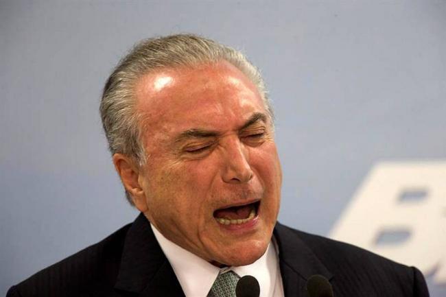 Michel Temer, presidente de Brasil, afirma: