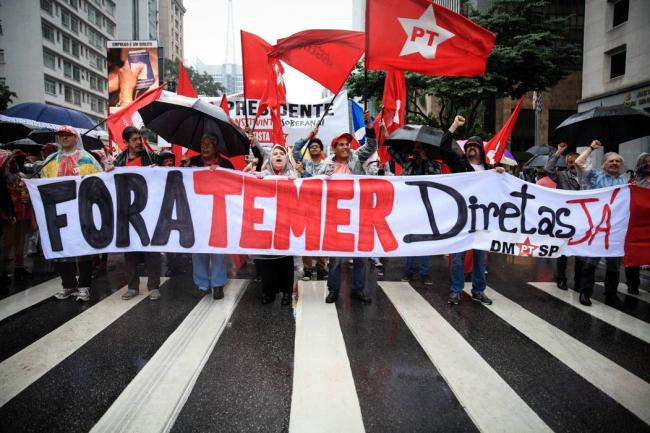 Fotos: Miles de brasileños marcharon para pedir renuncia de Temer y elecciones