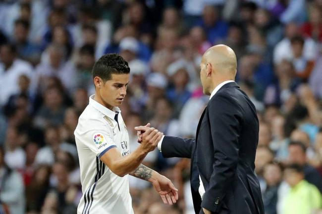 Zidane dice frase que se interpreta de despedida de James