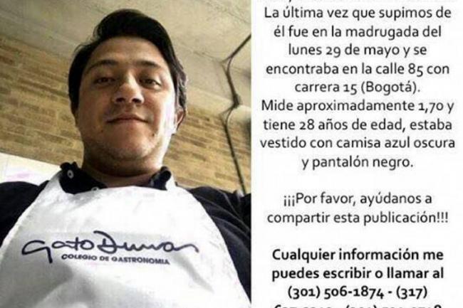 COLOMBIA: Fabián Herrera murió por paro respiratorio causado por medicamento