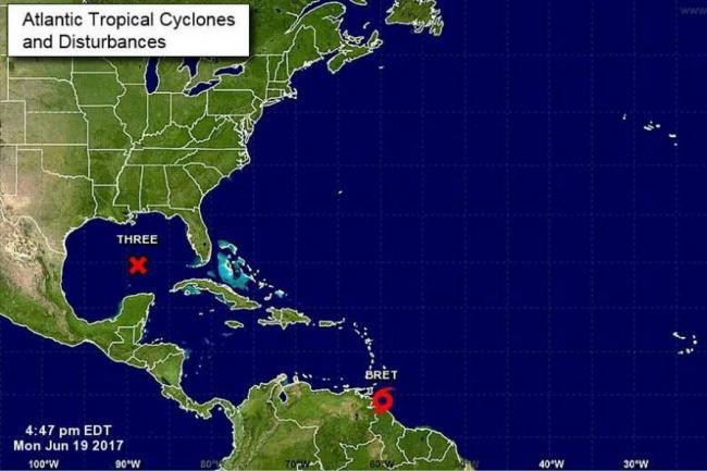 Ciclón tropical 'Bret' pasará cerca a Colombia