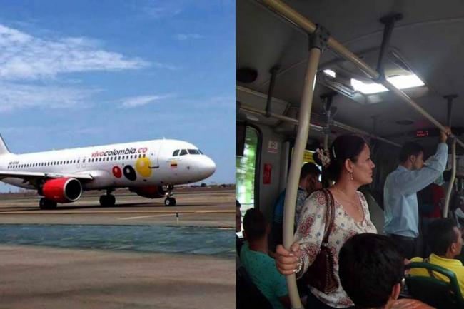 ¡Como en un bus! VivaColombia quiere llevar pasajeros de pie