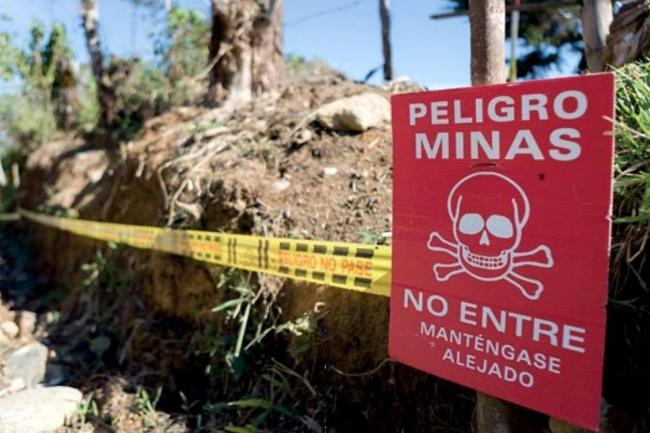 Un niño herido al pisar mina antipersonal en Tarazá, Antioquia