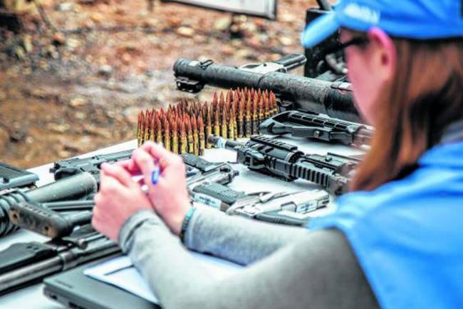 ONU inició destrucción de armamento entregado por las Farc en Colombia