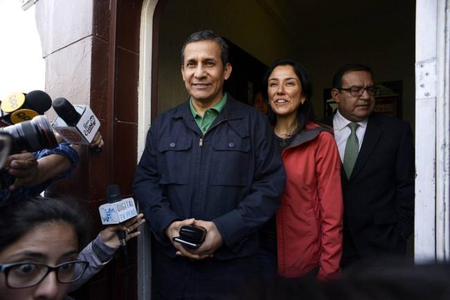 Ollanta Humala y Nadine Heredia, detenidos en el Palacio de Justicia