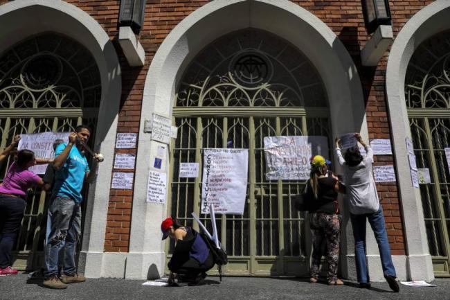 Así va el pancartazo en centros de votación de Caracas