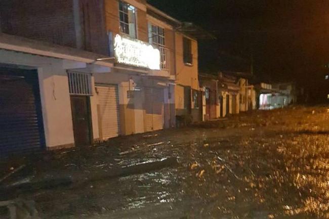 Desbordamiento de río causó una avalancha en Colombia