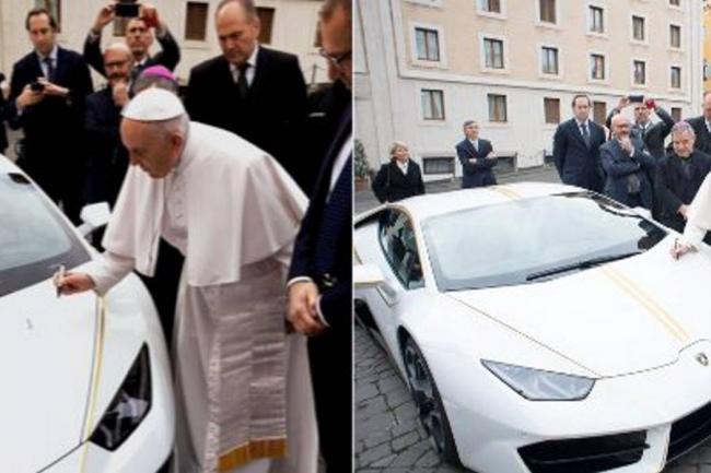 regalan lujoso carro al papa francisco y él lo subastará