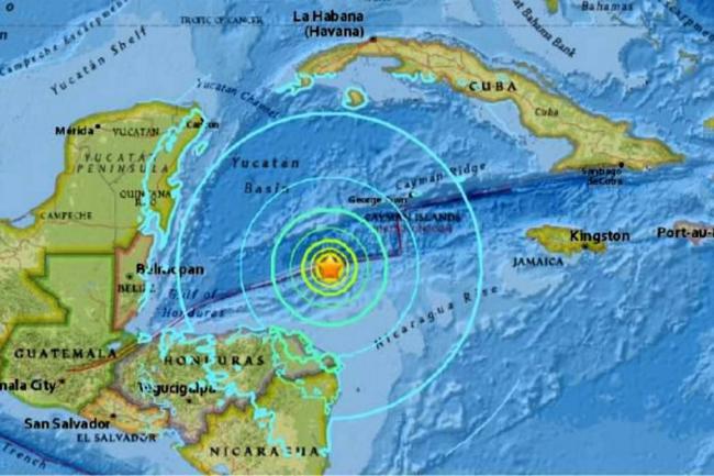 Terremoto en Honduras de 7.6 grados de intensidad sacude Mar Caribe