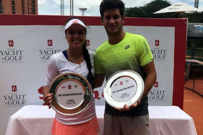 María Camila Osorio y Nicolás Mejía, campeones juveniles en Paraguay