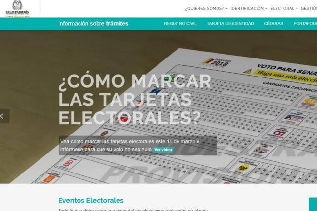 Desde Venezuela han intentado tumbar página de la Registraduría: MinDefensa