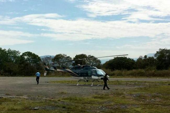 Helicóptero del gobernador de Santander aterrizó de emergencia por fallas técnicas