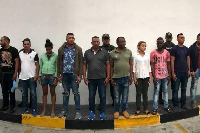 Detienen 57 miembros del Clan del Golfo en Colombia
