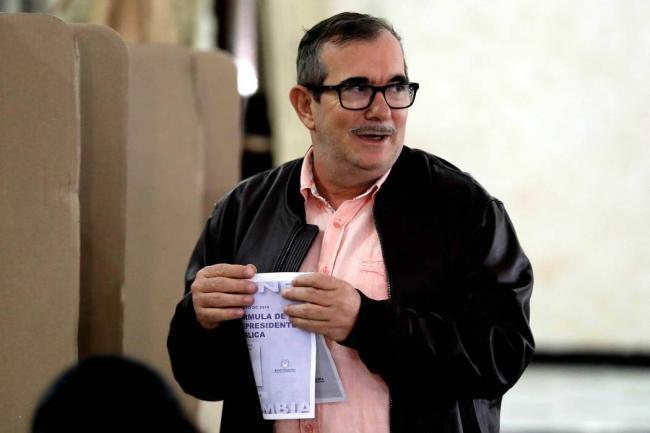 Timochenko votó por primera vez en unas elecciones presidenciales