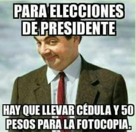 Estos son los memes que dejó la jornada electoral del domingo
