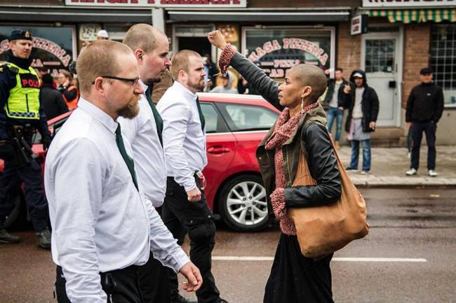 La mujer que enfrentó a los neonazis en Suecia es colombiana