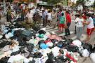 Varias vías de Girón fueron bloqueadas con basuras