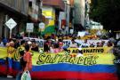 Marcha de trabajadores en Bucaramanga avanza con normalidad