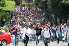 Estudiantes de la UIS se tomaron las principales calles de la ciudad