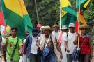 """El líder indígena advirtió que si el presidente Morales insiste en aprobar su proyecto que ley """"es porque quiere hacer desaparecer a los pueblos indígenas""""."""