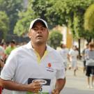 Julián Patiño Monsalve, periodista deportivo de Vanguardia Liberal, terminó en la casilla 67 de la categoría abierta con un tiempo de 33':55''.