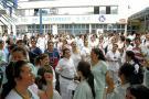 Empleados del HUS exigieron pago oportuno de sus sueldos