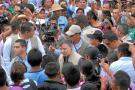 Indígenas reciben con abucheos a Santos en el conflictivo Cauca
