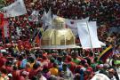 Presidentes de países socios de Venezuela en Caracas en apoyo a Chávez