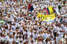 En firme marcha por la paz del 9 abril