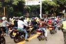 'Mototaxistas' protagonizan protesta en Bucaramanga