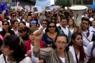 Multitudinarias marchas en todo el país en rechazo a las cartillas de Mineducación