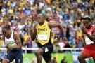 Bolt y Del Potro calentaron las tribunas