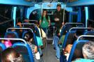 Policía realiza requisas en buses de transporte urbano en Girón