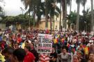 Comerciantes del Centro de Bucaramanga finalizan nueva protesta por el 'Pico y Placa'