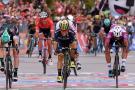 Fernando Gaviria terminó segundo en la séptima etapa del Giro de Italia