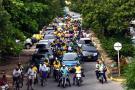 Docentes se tomaron las calles para visibilizar el paro nacional