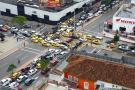 Caos en la movilidad por fallas en semáforos de Bucaramanga
