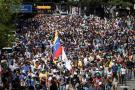 Opositores participaron en una manifestación contra la Asamblea Nacional Constituyente ayer.