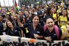 Docentes de Bucaramanga protestan por servicio de salud en Cabecera