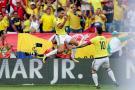 Colombia empató 1-1 con Brasil con golazo de Falcao