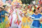 Desfile de la cultura en Bucaramanga se vivió con los 'monumentos falleros'