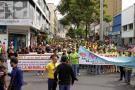 Los sectores salud, textil y calzado marcharon en paz en Bucaramanga