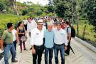 Inauguraron placas huellas en vereda El Rincón del Socorro