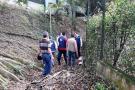 Alcalde visitó varios predios en Cañaveral para analizar obras