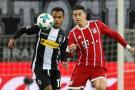 James Rodríguez sufrió fuerte golpe en juego del Bayern ante Mönchengladbach